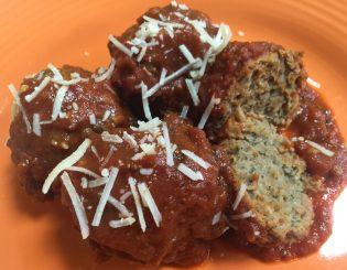 meatballs, sauce, parmesan
