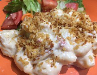 crab mac cheese
